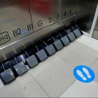 태국의 엘리베이터 버튼