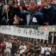 홍콩 시위 현장