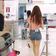 진세연 공항 비주얼.gif