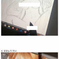 AV 배우들의 그림솜씨