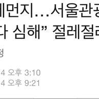 """중국관광객""""한국미세먼지심하다"""""""