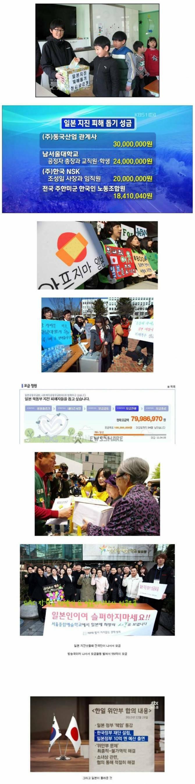 일본 지진 일본 지진 피해 돕기 성금 동국 산업 관계 남서울대 학교 한국 전국 미군 한국인