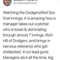 트럼프, 응 다저스 투수운용 문제있어.