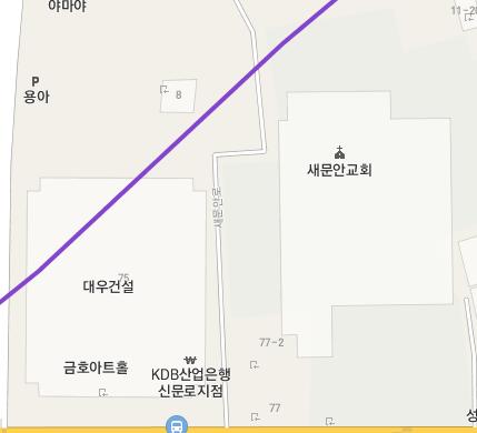 마야 새문안교회 대우건설 금호 아트 산업 은행 신문로 지점