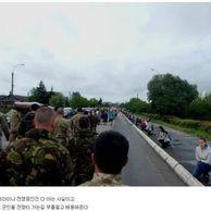 전선으로 향하는 우크라이나 군인들