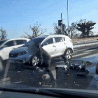 (폭행 주의)  도로 위 폭행