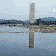1985년서울63빌딩준공식