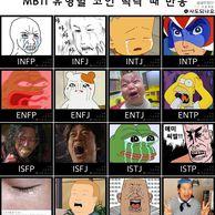 MBTI 유형별 코인 떡락 반응