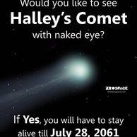 핼리 혜성을 맨눈으로 볼 수 있나요?