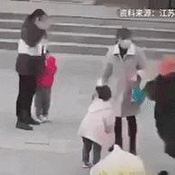 무시무시한 중국 애엄마들. gif