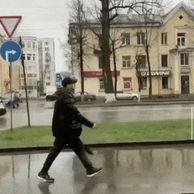 우산 간지나게 쓰는 법.GIF