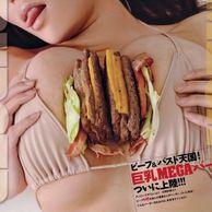후방주의) 일본의 햄버거 광고