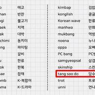 옥스포드 영어사전에 새롭게 등록된 한국어 단어 중 이상한 것