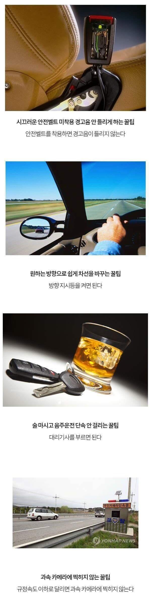 안전벨트 미착 고음 꿀팁 안전벨트 착용 고음 방향 차선 꿀팁 방향 음주운전 단속 꿀팁 대리 기사